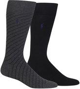 Polo Ralph Lauren Men's 2-Pk. Diagonal Stripe Socks