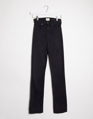 Alice + Olivia Jeans high rise kick flare jeans in black