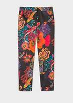 Paul Smith Women's Black 'Ocean' Print Stretch-Cotton Pants