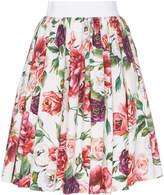 Dolce & Gabbana A-Line Floral-Print Mini Skirt