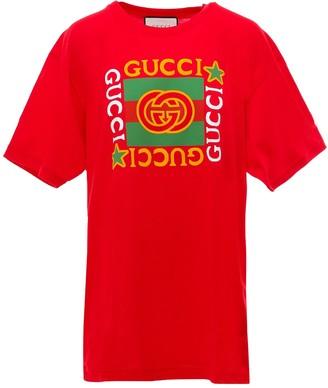 Gucci Logo Star Printed T-Shirt