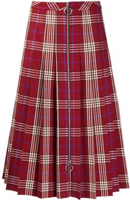 Mulberry Spencer tartan check skirt