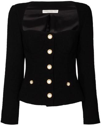 Alessandra Rich Square-Neck Blazer Jacket