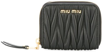 Miu Miu Lettering Logo Zipped Purse