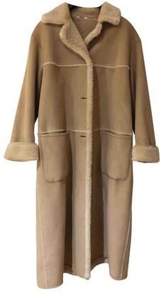 BEIGE Allard Megeve Shearling Coat for Women