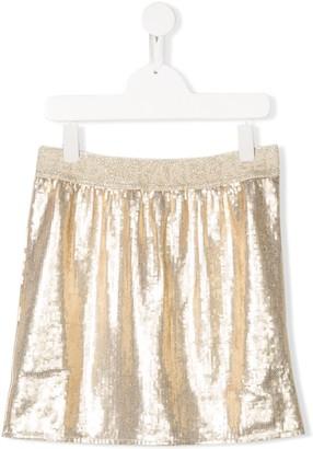 Karl Lagerfeld Paris waistband-logo sequin skirt