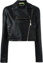 Versace zip up jacket - women - Cotton/Viscose/Polyester/Polyurethane Resin - 42