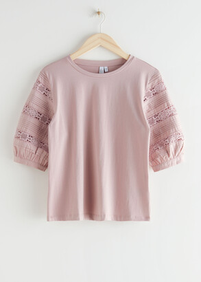And other stories Cotton Lace Top