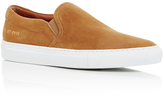 Common Projects Tan Suede Slip On Sneakers