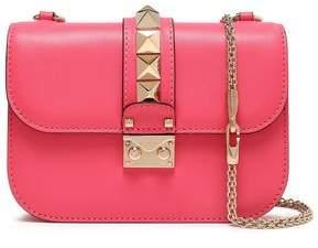 Valentino Garavani Rockstud Lock Leather Shoulder Bag