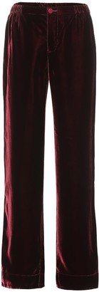 F.R.S For Restless Sleepers Etere velvet wide-leg pants