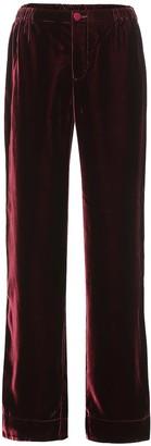 F.R.S For Restless Sleepers Etere velvet wide-leg pants