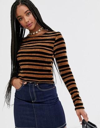 Wild Honey long sleeve top in vintage velvet stripe