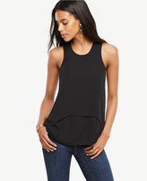 Ann Taylor Petite Layered Mixed Media Tank