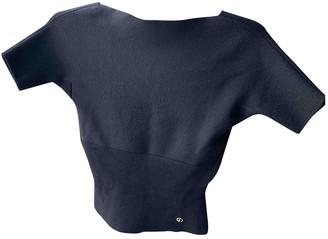Christian Dior Black Cashmere Tops