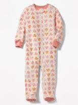 Old Navy Heart-Print Performance Fleece Sleeper for Toddler & Baby