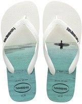 Havaianas Hype Photo Print White Black Men's Flip Flops All Sizes