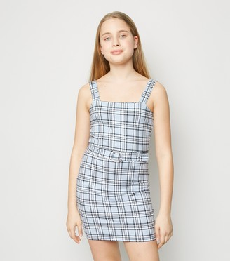 New Look Girls Check Ring Tube Skirt