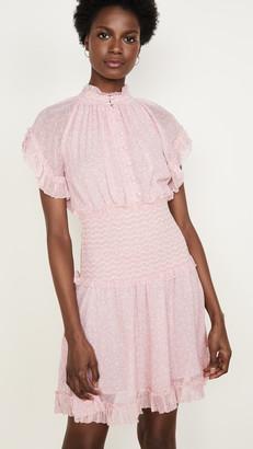 Jonathan Simkhai Serena Floral Crinkle Chiffon Dress