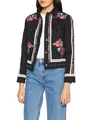 Desigual Women's Jacket Arento Long Sleeve,8 (Manufacturer Size: 36)