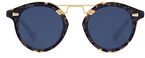 Krewe Unisex 24K Round Sunglasses, 63mm