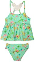 Hula Star 'Butterfly' Two-Piece Tankini Swimsuit (Toddler Girls & Little Girls)
