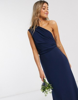 TFNC bridesmaid multiway maxi dress in navy