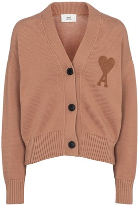 AMI Paris Ami de Cur cotton and wool cardigan