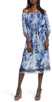 Tularosa Women's Marty Floral Print Off The Shoulder Midi Dress