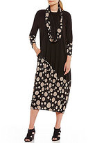 IC Collection Detachable Scarf Long Pull-On Dress