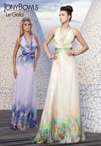 Mon Cheri La Gala Prom by Mon Cheri - 115519 Long Dress In Pink Multicolor