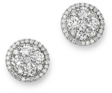 Bloomingdale's Diamond Circle Halo Stud Earrings in 14K White Gold, 1.0 ct. t.w. - 100% Exclusive