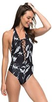 Roxy Women's Printed Strappy Love One Piece Swimsuit