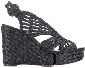 Paloma Barceló Sling-Back Wedge Sandals