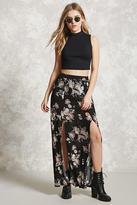 Forever 21 M-Slit Bird Print Maxi Skirt