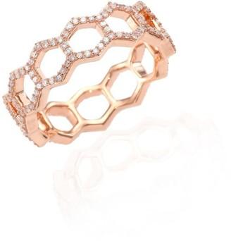 Astley Clarke Honeycomb Diamond & 14K Rose Gold Ring