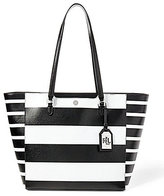 Lauren Ralph Lauren Newbury Collection Halee Striped Saffiano Tote