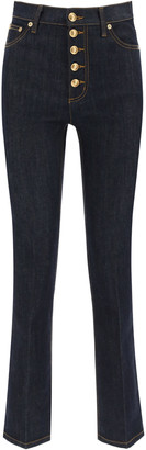 Tory Burch Jeans With Logo Buttons