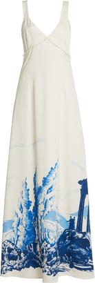 STAUD Women's Ilaria Maxi Crepe Satin Slip Dress - White - Moda Operandi