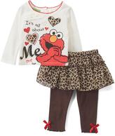 Children's Apparel Network Sesame Street Elmo 'About Me' Tee and Skirted Leggings - Infant
