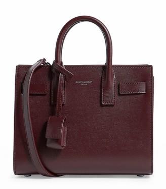 Saint Laurent Nano Grained Leather Sac De Jour Tote Bag