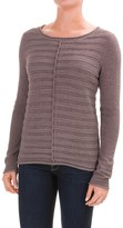 Lilla P Textured Stripe Boat Neck Sweater (For Women)