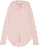ATM Anthony Thomas Melillo French Cotton-blend Terry Hooded Top - Blush