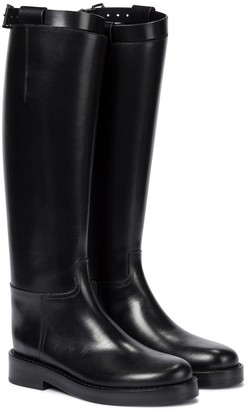 Ann Demeulemeester Leather riding boots