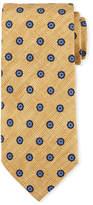 Canali Printed Foulard Silk Tie, Yellow
