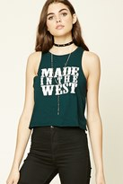 Forever 21 FOREVER 21+ Made in the West Tank Top