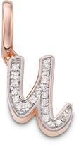 Monica Vinader Diamond U Alphabet Pendant
