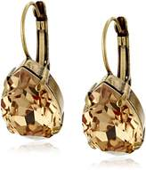 "Sorrelli Neutral Territory"" Classic Teardrop French Wire Drop Earrings"