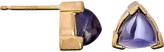 Ariel Gordon Triangular Iolite Sugar Loaf Studs
