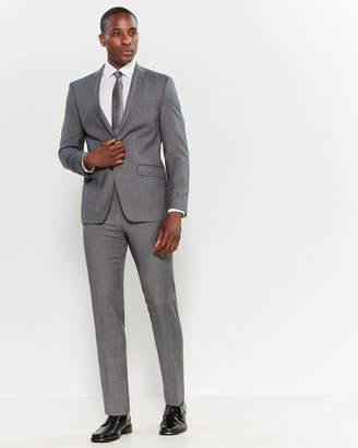 Calvin Klein Two-Piece Grey Stretch Slim Fit Suit